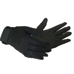 ShowMaster Cotton Gloves w/Pimple Grip Medium Black
