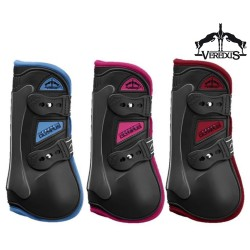 Veredus Olympus Tendon Boots Front Large Black w/Blue Edge