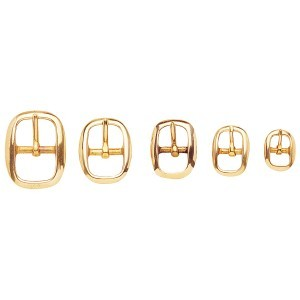 Polished Brass Swage Bridle Buckles