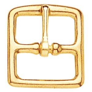 Solid Brass Stirrup Leather Buckle