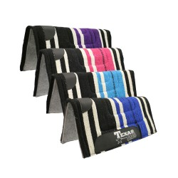 "Texas-Tack Navajo Pony Saddle Pad 22""x22"" Black/Blue"