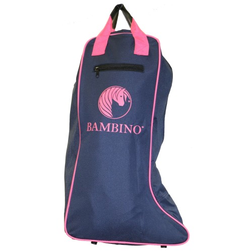 Bambino Top Boot Carry Bag Navy w/Pink