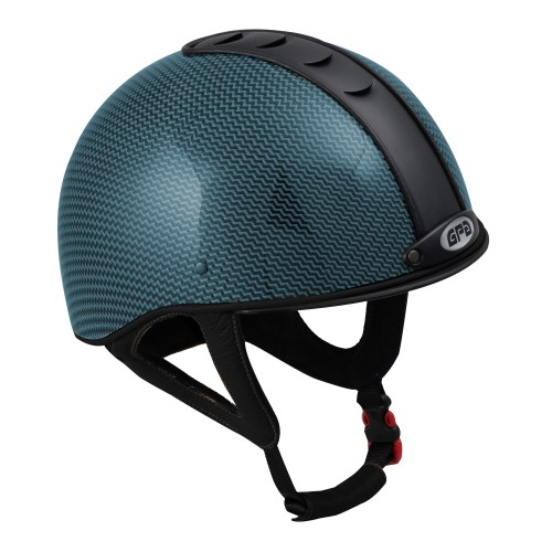 GPA Jock Up Helmet No.1 Size 57cm Turq Carbon Fibre