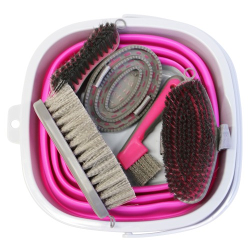 Showmaster Grooming Kit w/Collapsable Bucket Pink/Grey