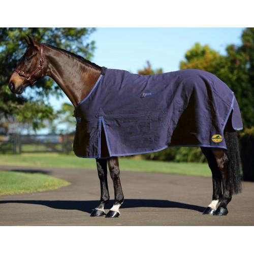 Horsemaster Canvas Rug Navy 5 9 175cm