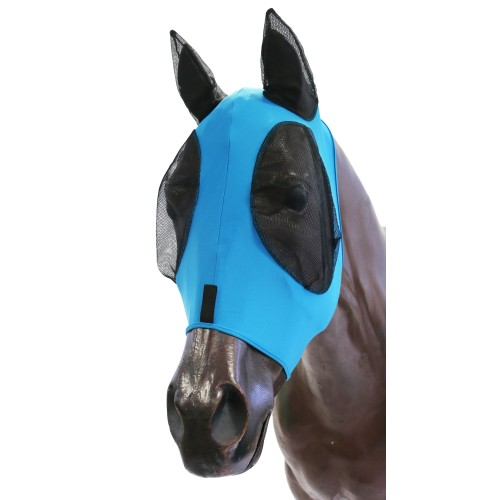 KoolMaster Lycra Pull-On Fly Mask Cob Turquoise/Black