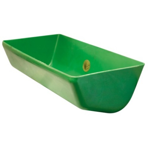 Rubber Feed Trough: Ok Plast Feed Trough Moulded Plastic 26l Capacity