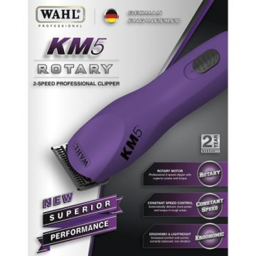 Wahl KM-5 Rotary Motor Clipper w/ #10 Ultimate Blade Set