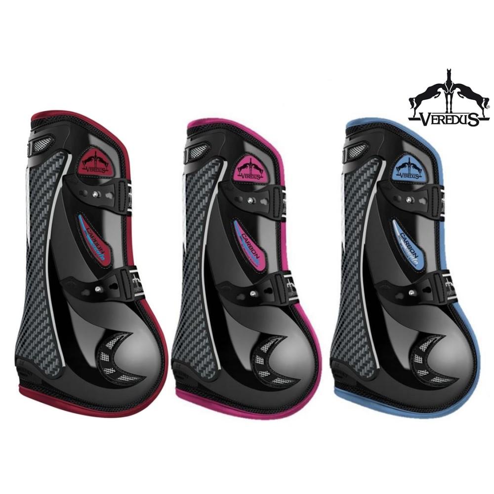 Black Veredus Carbon Gel Vento Front Tendon Boots Pferde-Gamaschen Pferdeausstattung & Zubehör